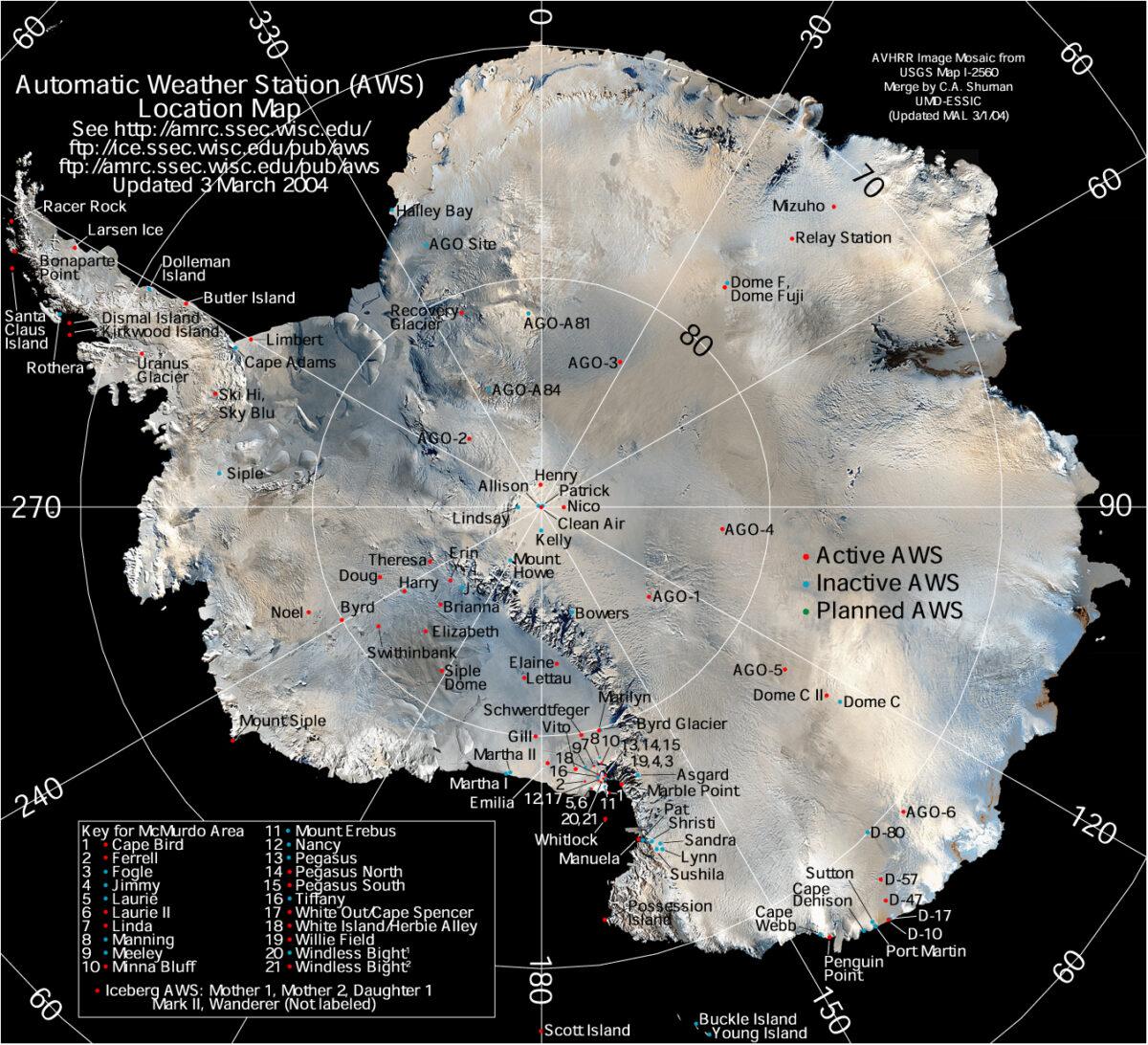 vaderstationer antarktis
