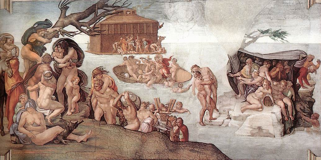14059 the deluge michelangelo buonarroti