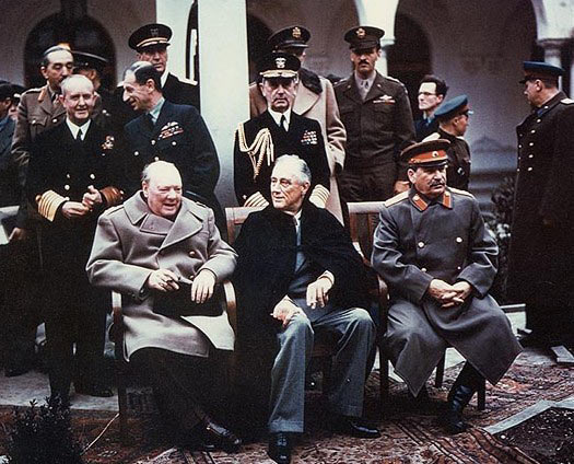 Yalta Conference1945 Churchill Roosevelt Stalin Wikipedia
