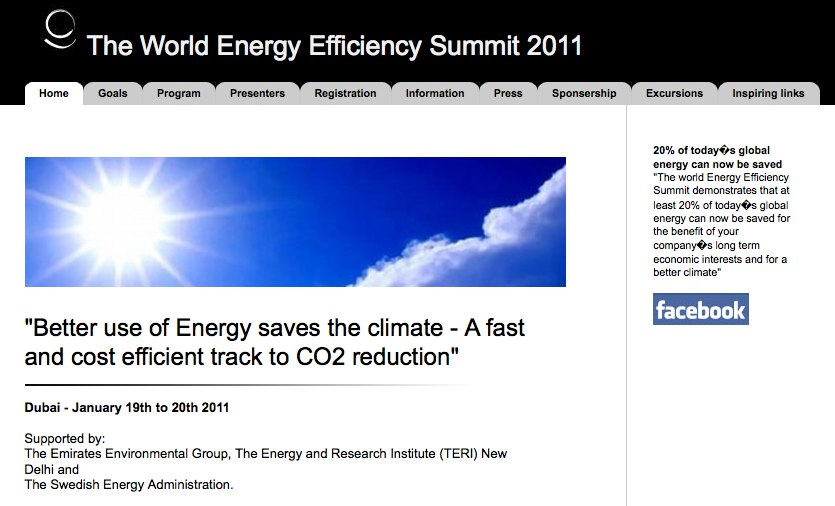 The World Energy Summit 2011