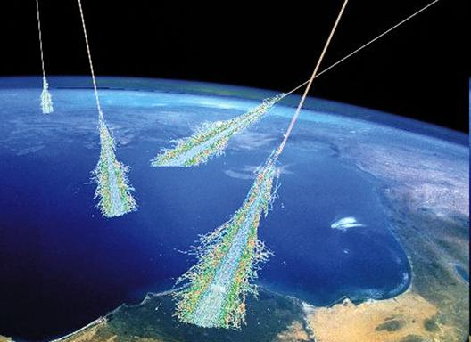 NASA cosmic rays in atmosphere