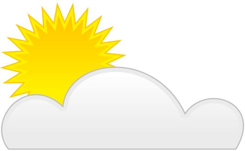 bright sun by cloud