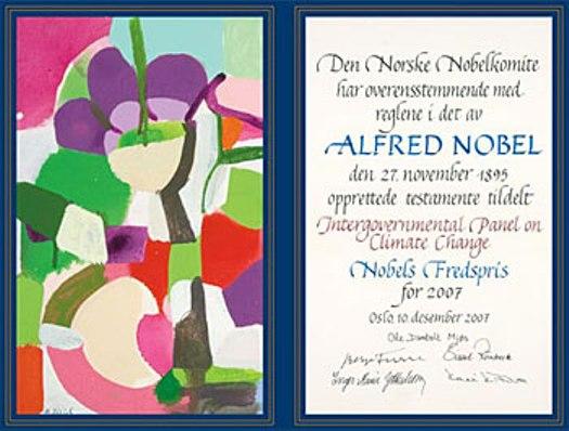 nobel certificate