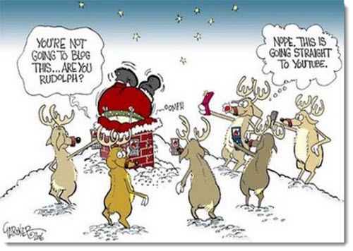 christmas humor santa stuck rudolph blog