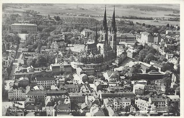 Uppsala Flygfoto 1936 vykort