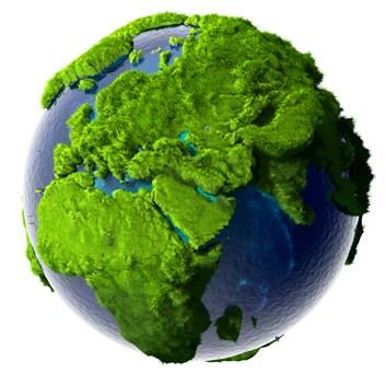 en groen vaerld