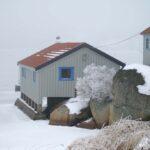vinter hus hav